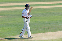 Ravi Bopara of Essex celebrates reaching 150 runs during Essex CCC vs Warwickshire CCC, Specsavers County Championship Division 1 Cricket at The Cloudfm County Ground on 20th June 2017
