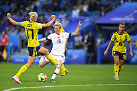 LE HAVRE, FRANCE - JUNE 20: Caroline Seger #17, Megan Rapinoe #15 during a 2019 FIFA Women's World Cup France group F match between the United States and Sweden at Stade Océane on June 20, 2019 in Le Havre, France.