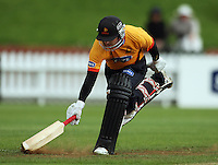 BJ Crook makes his ground during the State Shield cricket match between the Wellington Firebirds and Central Stags at Allied Prime Basin Reserve, Wellington, New Zealand on Sunday, 11 January 2009. Photo: Dave Lintott / lintottphoto.co.nz