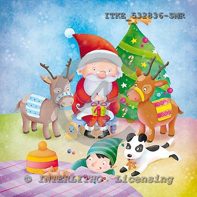 Isabella, CHRISTMAS SANTA, SNOWMAN, paintings, ITKE532836-SMR,#x# Weihnachtsmänner, Schneemänner, Weihnachen, Papá Noel, muñecos de nieve, Navidad, illustrations, pinturas