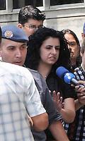 Santo Andre, SP,14 FEVEREIRO 2012-Advogada Ana Lucia de Lindemberg chega  no Forum de Santo Andre. (FOTO: ADRIANO LIMA - NEWS FREE).