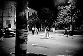 Krasnodar, Russia  .1998.In the evening at the corner of Krasnay and Gorky street..