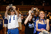Around 4,500 Duke fans and students celebrate inside Cameron Indoor Stadium after the Blue Devils' thrilling victory over the Butler Bulldogs to win the NCAA championship , Mon., April 5, 2010. Duke defeated Butler 61-59 in a breathtaking finish to an unexpected championship season, the fourth for the university and Head Coach Mike Krzyzewski.