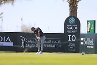 Adrian Otaegui (ESP) on the 10th tee during the final round of  the Saudi International powered by Softbank Investment Advisers, Royal Greens G&CC, King Abdullah Economic City,  Saudi Arabia. 02/02/2020<br /> Picture: Golffile | Fran Caffrey<br /> <br /> <br /> All photo usage must carry mandatory copyright credit (© Golffile | Fran Caffrey)