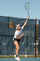 SAN ANTONIO, TX - FEBRUARY 8, 2013: The University of Houston Cougars vs. the University of Texas at San Antonio Roadrunners Women's Tennis at the UTSA Tennis Center. (Photo by Jeff Huehn)