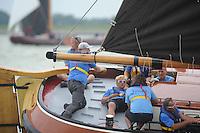 SKUTSJESILEN: SKS2013: SKS kampioenschap 2013, schipper Joure, Dirk Jan Reijenga, ©foto Martin de Jong