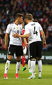 June 6th 2017, Brondby Stadium, in Brondby, Copenhagen, Denmark;  Leon Goretzka (L) and Matthias Ginter from Germany talk to each other during the international  match between Denmark and Germany at the Brondby Stadium