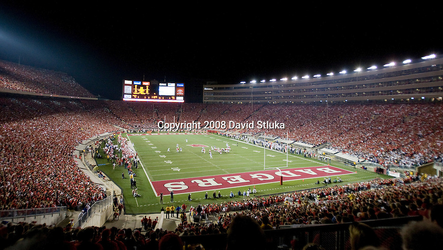 MADISON, WI - OCTOBER 11: A general view of Camp Randall Stadium during the Wisconsin Badgers game against the Penn State Nittany on October 11, 2008 in Madison, Wisconsin. The Nittany Lions beat the Badgers 48-7. (Photo by David Stluka)