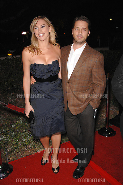 "JASON PRIESTLEY & wife NAOMI LOWDE PRIESTLEY at the Los Angeles premiere of ""Flags of our Fathers""..October 9, 2006  Los Angeles, CA.Picture: Paul Smith / Featureflash"