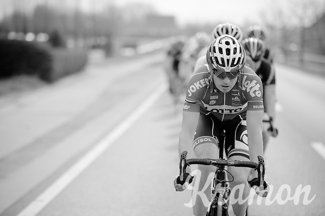 Frederik Willems (BEL/Lotto-Belisol) driving the peloton<br /> <br /> Gent-Wevelgem 2014
