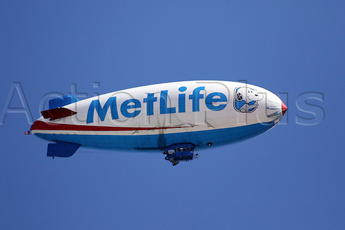 September 22, 2016:    The MetLife blimp at  the opening round of the 2016 PGA Tour Championship at East Lake Golf Club in Atlanta, Georgia.