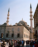 TURKEY, Istanbul, people outside Yeni Camii Mosque