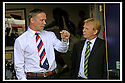 01/10/2006       Copyright Pic: James Stewart.File Name :sct_jspa15_falkirk_v_celtic.FALKIRK MANAGER JOHN HUGHES TALKS TO CELTIC MANAGER GORDON STRACHAN......Payments to :.James Stewart Photo Agency 19 Carronlea Drive, Falkirk. FK2 8DN      Vat Reg No. 607 6932 25.Office     : +44 (0)1324 570906     .Mobile   : +44 (0)7721 416997.Fax         : +44 (0)1324 570906.E-mail  :  jim@jspa.co.uk.If you require further information then contact Jim Stewart on any of the numbers above.........