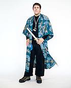 Matt Penwell, of Wilmington, N.C., dressed as a samurai