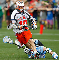 during the game against the Johns Hopkins in Charlottesville, VA. Johns Hopkins defeated Virginia 11-10 in overtime. .