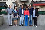 Productor Gerardo Herrero, Mariela Besuievsky, Jose Coronado, Mercedes Moran, Alberto Ammann and director Miguel Cohan present the film 'Betibu' at Cinema Princesa in Madrid. September 09, 2014. (ALTERPHOTOS / Nacho Lopez)