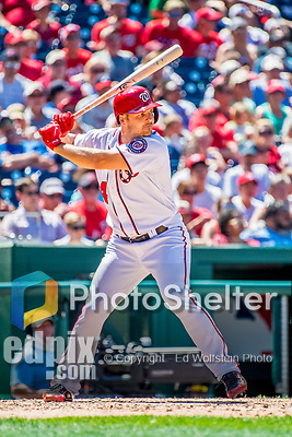 9 July 2017: Washington Nationals outfielder Chris Heisey in action against the Atlanta Braves at Nationals Park in Washington, DC. The Nationals defeated the Atlanta Braves to split their 4-game series going into the All-Star break. Mandatory Credit: Ed Wolfstein Photo *** RAW (NEF) Image File Available ***