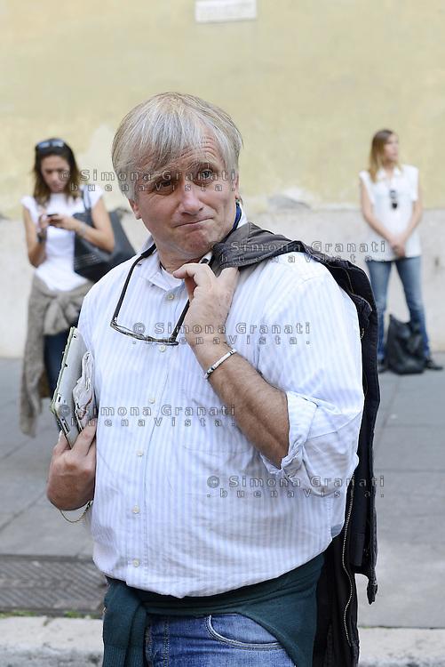 Roma, 4 Ottobre 2014<br /> Piazza Santi Apostoli<br /> Manifestazione di Sinistra, Ecologia e Libertà per una nuova politivca economica, contro l'austerity.<br /> <br /> Giorgio Airaudo, Sel.
