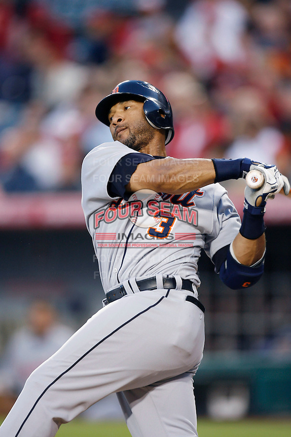 Gary Sheffield of the Detroit Tigers during a game against the Los Angeles Angels in a 2007 MLB season game at Angel Stadium in Anaheim, California. (Larry Goren/Four Seam Images)