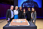 MIAMI, FL - FEBRUARY 21: Author Paul Auster, Siri Hustvedt, Mitchell Kaplan, Brittany Anjou, Magicians David Blaine and Singer Sophie Auster pose for picture onstage after reading from his book during A Evening with Paul Auster & friends! MUSIC, MAGIC & THE MUSE: for his latest novel, '4 3 2 1' features Singer Sophie Auster and Magicians David Blaine at Adrienne Arsht Center - Knight Concert Hall on February 21, 2017 in Miami, Florida. ( Photo by Johnny Louis / jlnphotography.com )