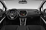 Stock photo of straight dashboard view of 2017 Suzuki SX4-S-Cross GL+ 5 Door SUV Dashboard
