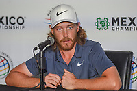 Tommy Fleetwood (ENG) answers media questions during the preview of the World Golf Championships, Mexico, Club De Golf Chapultepec, Mexico City, Mexico. 2/27/2018.<br /> Picture: Golffile | Ken Murray<br /> <br /> <br /> All photo usage must carry mandatory copyright credit (&copy; Golffile | Ken Murray)