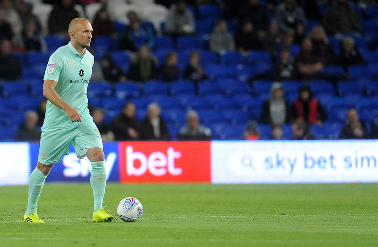 Queens Park Rangers' Toni Leistner during the game<br /> <br /> Photographer Ian Cook/CameraSport<br /> <br /> The EFL Sky Bet Championship - Cardiff City v Queens Park Rangers - Wednesday 2nd October 2019  - Cardiff City Stadium - Cardiff<br /> <br /> World Copyright © 2019 CameraSport. All rights reserved. 43 Linden Ave. Countesthorpe. Leicester. England. LE8 5PG - Tel: +44 (0) 116 277 4147 - admin@camerasport.com - www.camerasport.com