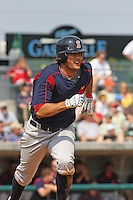 Shortstop Kris Negron of the Salem Red Sox running during a game against  the Myrtle Beach Pelicans on May 3, 2009