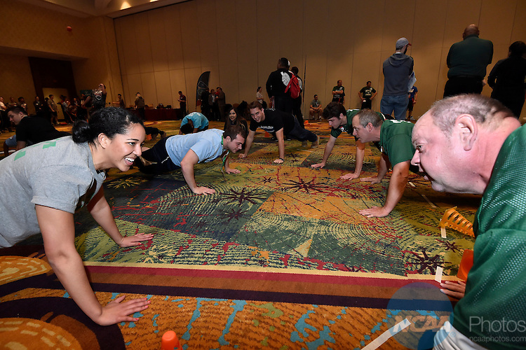 14 JAN 2016: The Division III SAAC Special Olympics event during the 2016 NCAA Convention takes place at the Marriott Rivercenter in San Antonio, TX. Justin Tafoya/NCAA Photos
