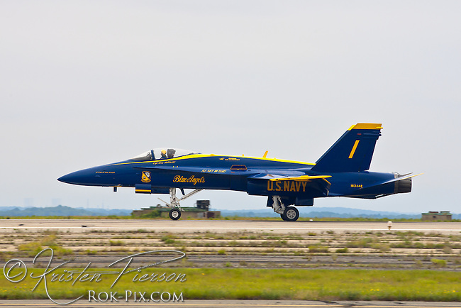 U.S. Navy's Blue Angels perform at the Quonset show in North Kingstown, Rhode Island on June 24, 2011.