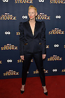 Tilda Swinton<br /> 'Doctor Strange'  film screening event Marvel Studios in partnership with GQ at Westminster Abbey, London, England on October 24, 2016.<br /> CAP/PL<br /> &copy;Phil Loftus/Capital Pictures /MediaPunch ***NORTH AND SOUTH AMERICAS ONLY***
