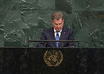 72 General Debate – 20 September <br /> <br /> <br /> His Excellency Sauli Niinistö, President of the Republic of Finland