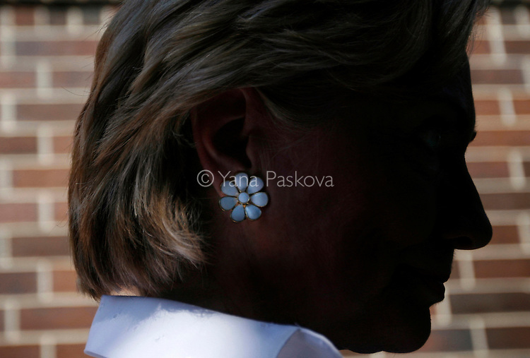 U.S. Presidential hopeful Hillary Clinton (D-NY) rests for a moment while campaigning at the Clear Lake 4th of July Parade in Clear Lake, Iowa, on July 4, 2007. She brought along her husband, former President Bill Clinton, to greet the crowd.
