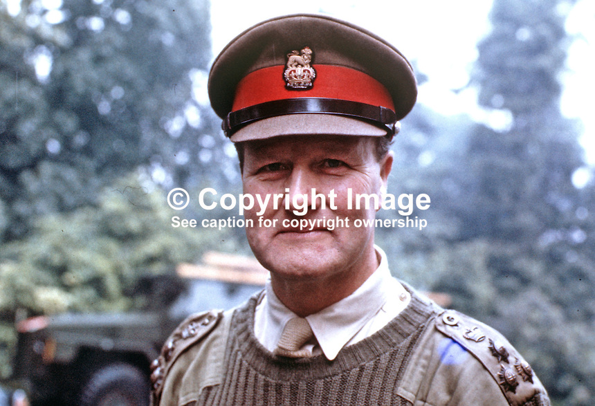 Brigadier David Bayley, deputy General Officer Commanding, N Ireland, UK,197007000260, 260/70.<br />