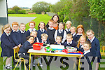 OUTDOORS: The junior infants of Abbeydorney NS played with their toys on their fisrt day at school out in their garden. FrFront l-r: Alonzo Mendez, Sadhbh Slattery Aherne, Cian Lynch, To?mas WalshKacey Frehill and Tadgh barton. Back l-r: Dara Cunningham, Orla Leahy, Naomi Burke, Shane Leonard, Clodagh O'Leary, Marguerite Ronan (Teacher), Jack Costello, Jody Charles, Catelin Mahony, Kayla Lyne Moynihan and Tadgh Costello......