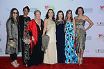MIAMI, FL - FEBRUARY 13: (L-R) Sam Robin, Barbara Becker, Iran Issa Khan, Susie Wahab, HRH Princess Firyal, Lisa Heiden Koffler, and Criselda Breene arrive to Designed For A Cure 2014 Benefiting Sylvester Comprehensive Cancer Center at Ice Palace on February 13, 2014 in Miami, Florida. (Photo by Johnny Louis/jlnphotography.com)
