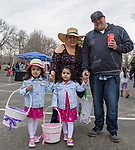 The Gonzales family during the Community Easter Egg Dash at Idlewild Park in Reno, Nevada on Saturday, March 31, 2018.
