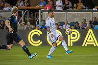 SAN JOSE,  - AUGUST 31: Dom Dwyer  #14 of the Orlando City SC during a game between Orlando City SC and San Jose Earthquakes at Avaya Stadium on September 1, 2019 in San Jose, .