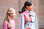 Queen Letizia and Princess of Asturias Leonor attend auddience in Oviedo because of Princess of Asturias Awards 2019. October 18, 2019 (Alterphotos/ Francis Gonzalez)