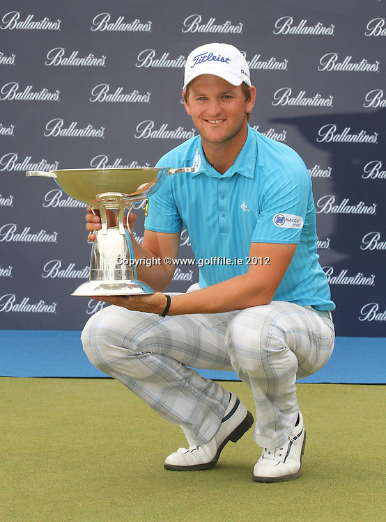 Bernd Weisberger (AUT) after winning on Day 4 of the Ballantines Championship 2012 at Blackstone Golf Course, Icheon, Korea...(Photo Jenny Matthews/www.golffile.ie)