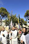 Israel, Jerusalem, Easter, Palm Sunday procession on the Mount of Olives