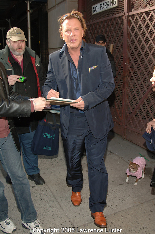 Mickey Rourke and his chihuahua Lucky