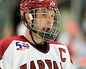 Chris Huxley (Harvard - 28) - The Harvard University Crimson defeated the St. Lawrence University Saints 4-3 on senior night Saturday, February 26, 2011, at Bright Hockey Center in Cambridge, Massachusetts.