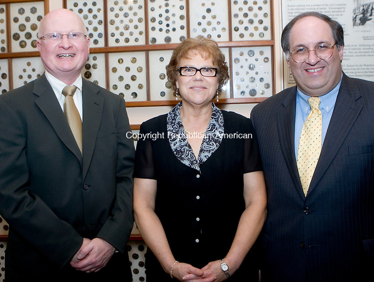 WATERBURY, CT- 27 APRIL 07- 042807JT25-<br /> David Williams, secretary of the board of directors at GWIM with Rev. Phyllis Norman, president of the board of directors, and Waterbury Mayor Michael J. Jarjura at the GWIM Stardust Gala at the Mattatuck Museum Arts and History Center in  Waterbury on Friday, April 26, 2007. The GWIM Board of Directors honored Ingrid Manning, CEO of the CT Community Foundation.<br /> Josalee Thrift Republican-American