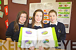 Barbara O'Connell, Cassie Murphy and Eilis Moriarty from Colaiste na Sceilge, Caherciveen with their project To Discover if an area or lifestyle is linked to Mental Health at the ITT Science Fest on Tuesday.