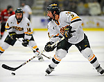 18 January 2008: University of Vermont Catamounts' forward Wahsontiio Stacey, a Freshman from Kahnawake, Quebec, in action against the Northeastern University Huskies at Gutterson Fieldhouse in Burlington, Vermont. The two teams battled to a 2-2 tie in the first game of their 2-game weekend series...Mandatory Photo Credit: Ed Wolfstein Photo