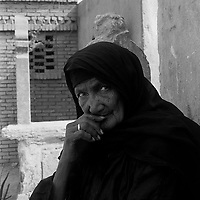 City of the Dead, Cairo - Mona Achmed, a tomb guardian.