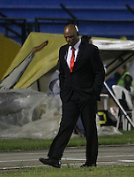 FLORIDABLANCA -COLOMBIA-8-MAYO-2016.José Manuel Rodríguez director téncico del Bucaramanga   contra el Envigado FC  durante partido por la fecha 17 de Liga Águila I 2016 jugado en el estadio Alvaro Gómez Hurtado./ José Manuel Rodríguez coach  of Bucaramanga against of  Envigado FC during the match for the date 17 of the Aguila League I 2016 played Alvaro Gomez Hurtado . Photo: VizzorImage / Duncan Bustamante / Contribuidor