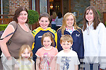 Cheering on their Olympic heroes at the Killarney Oaks Hotel on Thursday night..Jenny, Emily, Tomas Cronin. Back row: Marie, Kathryn Cronin, Maeve McSweeney and Niamh Cronin Killarney   Copyright Kerry's Eye 2008