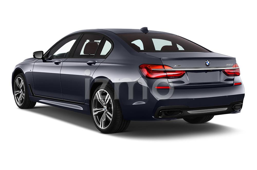 Car pictures of rear three quarter view of a 2018 BMW 7 Series M Sport 4 Door Sedan angular rear